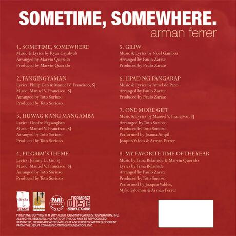 Sometime Somewhere CD case Back